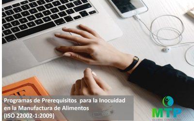 1ra Parte del Programa de Pre-requisitos  para la Inocuidad  en la Manufactura de Alimentos (ISO 22002-1:2009)